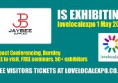 Jaybee are exhibiting at the Love Local Expo on the 1st May….