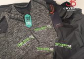 The Functional Fit lime green logo stands out great on all g…